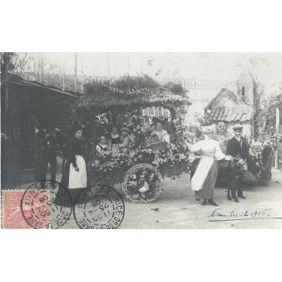 Nice - Bataille de Fleurs avril 1906 Carte Photo