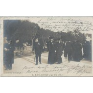 Carte Photo - Le Roi Léopold et sa Fille à Nice 1908
