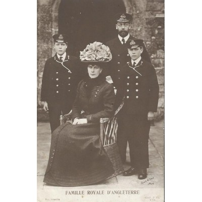 Famille Royale d'Angleterre - carte photo 1914