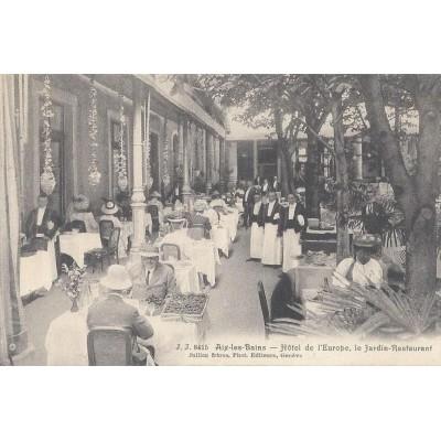 Aix les bains h tel de l 39 europe le jardin restaurant - Hotel de mougins restaurant le jardin ...