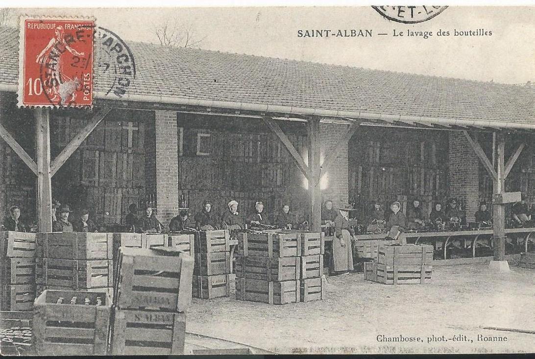 Saint alban du rh ne le lavage des bouteille - Les comptoirs du monde saint alban ...