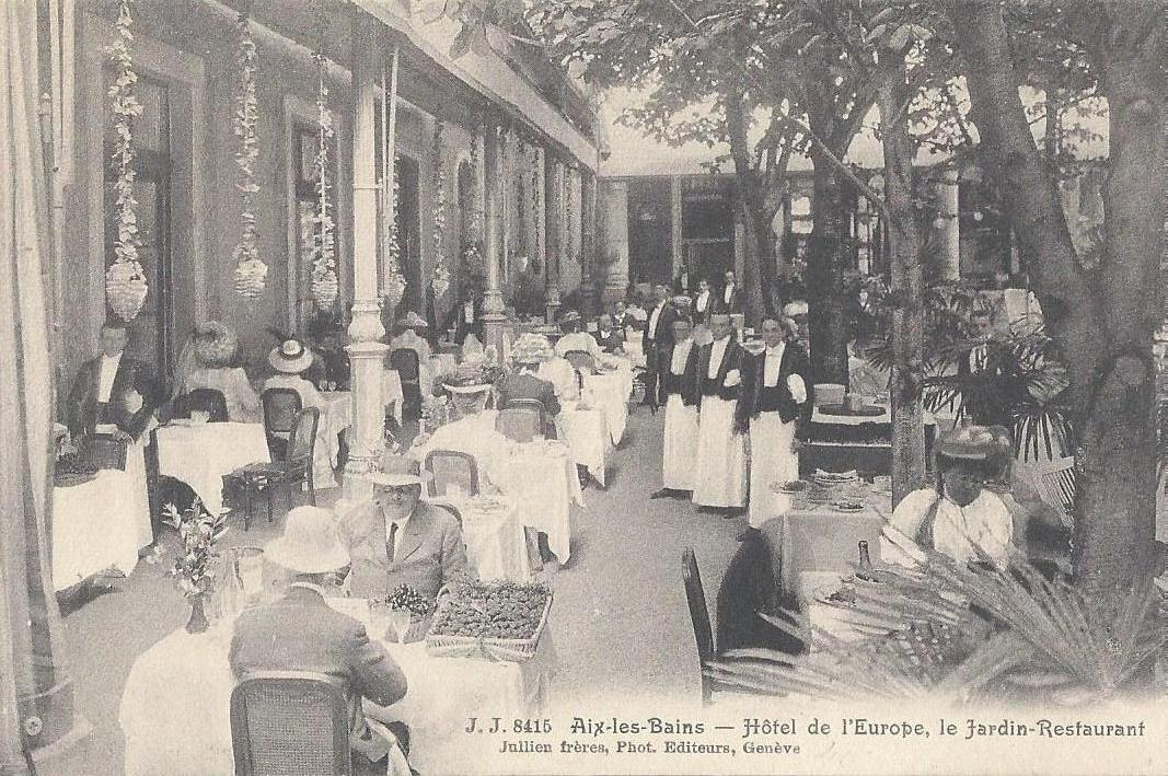 Aix les bains h tel de l 39 europe le jardin restaurant - Restaurant la folie des grandeurs aix les bains ...