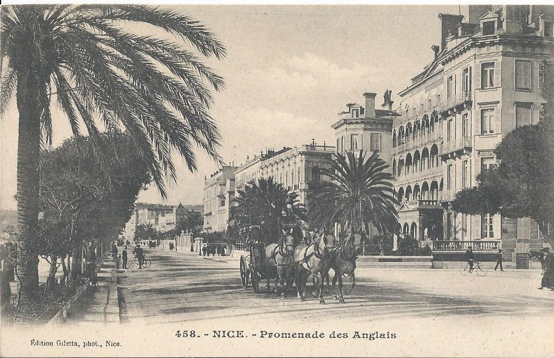 nice promenade des anglais vers 1900. Black Bedroom Furniture Sets. Home Design Ideas